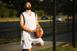relaxing streetbasket player