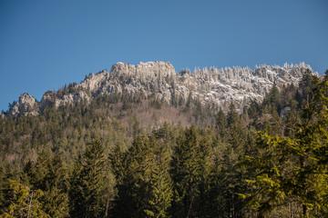 frozen snow ice cap on top of mountain