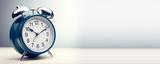 green alarm clock morning time - 199185126
