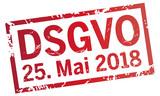 roter stempel DSGVO Stichtag 25.Mai.2018 - 199186348