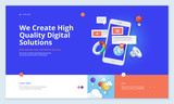 Effective website template design. Modern flat design vector illustration concept of web page design for website and mobile website development. Easy to edit and customize. - 199187194