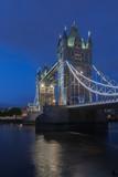 Tower Bridge in the night, London, England