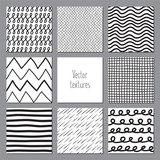 Set of seamless textures, hand made pattern
