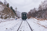 Local train moves to Port Baikal station.