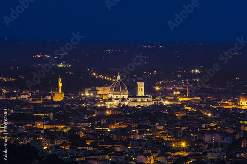 Foto op Plexiglas Florence Firenze: panoramica notturna