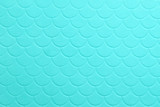 Paper embossing fish scales seamless texture. tiffany color background - 199199319