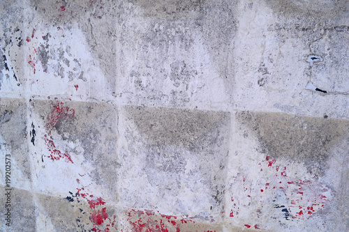 Fotobehang Betonbehang Old concrete background of the fence strong. Grey texture.