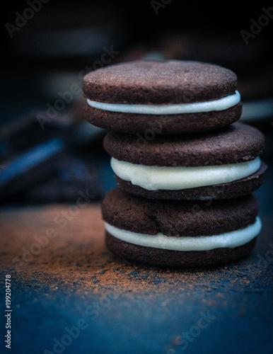 Foto op Canvas Zen homemade cookies Oreo