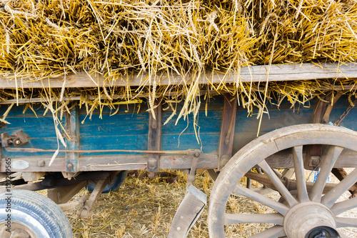 Cart full of hay
