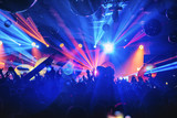 dj night club party rave with crowd in music festive - 199210113