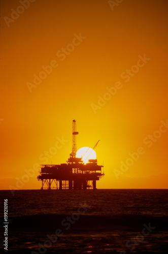 Fotobehang Zee zonsondergang sunset oil