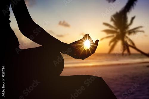 Foto op Plexiglas School de yoga Meditation.