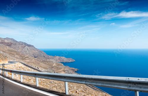 Foto op Plexiglas Pool Mountain and seascape, Greece