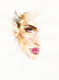 beautiful woman. fashion illustration. watercolor painting - 199231197