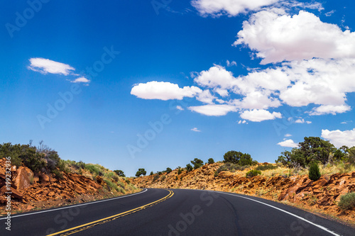 New highway in Arizona. Journey to the Southwest of the USA Poster
