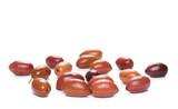Black olives isolated on white background