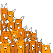 Foxes big family, sketch for your design