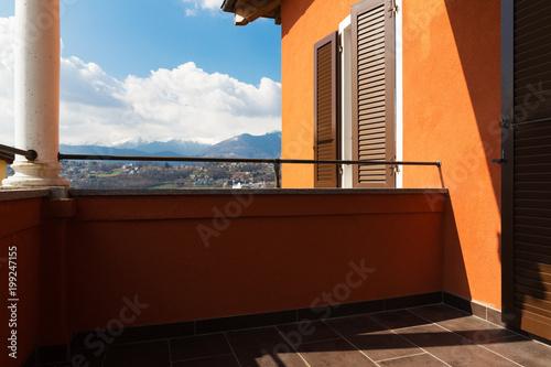 Plexiglas Bruin Villa with view in the house