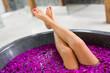 Woman's legs in bath