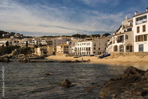 Foto op Plexiglas Zwart Precious town fisherman located in Spain.