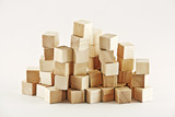 Wooden square blocks