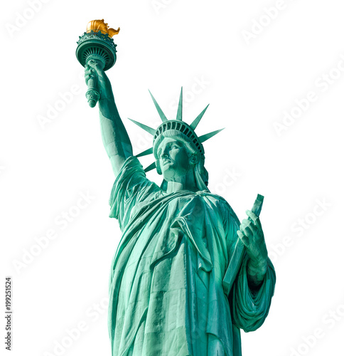 Foto Murales Statue of Liberty isolated, New York City
