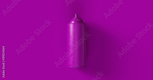 Purple Spray Can 3d illustration