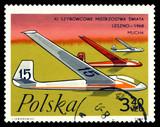 Postage stamp.  Gliders Flies.