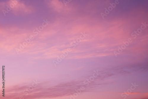 Fotobehang Candy roze マジックアワーとはけ雲