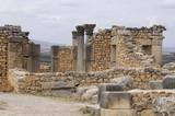 Archäologische Ausgrabung der antiken römischen Stadt Volubilis, UNESCO-Weltkulturerbe, Marokko, Afrika - 199258353