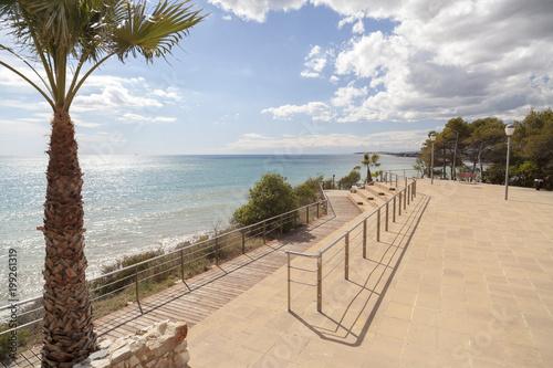 Foto Murales Mediterranean view from lookout in Roda de Bera,Costa Dorada,Catalonia,Spain.