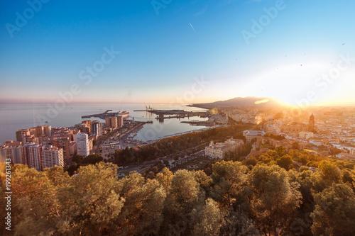 Aerial view of Malaga