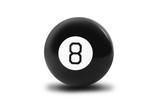 Magic billiard ball number eight