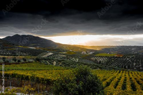 Foto op Plexiglas Zwart Scenic landscape