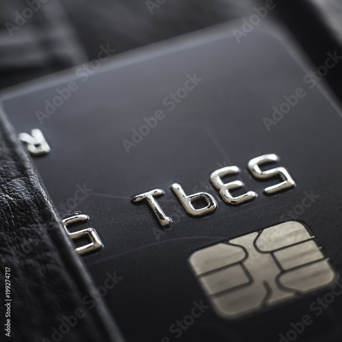 Macro shot with old credit card. - 199274717