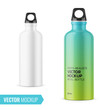 White metal water bottle template.