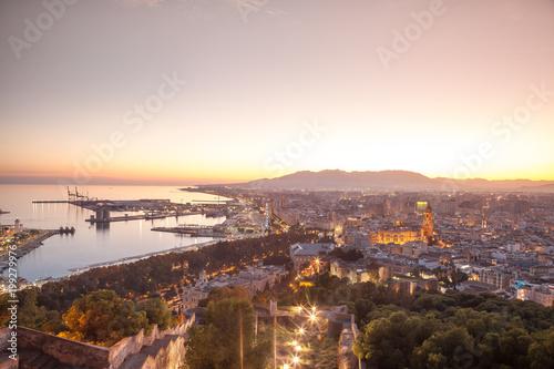 Romantic Malaga skyline