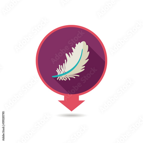 Wtapianie wektor pin mapę ikonę