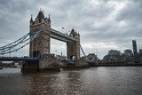 The view of famous Tower Bridge in London, England.