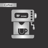 black and white style icon of coffee electronic machine - 199284364