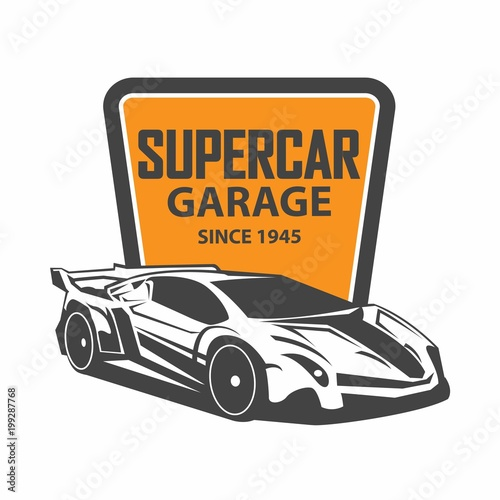 Sports car logo template. Modern sports car logo. Car logo template - 199287768