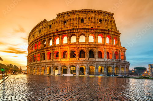 Fotobehang Rome Rome, Coliseum. Italy.