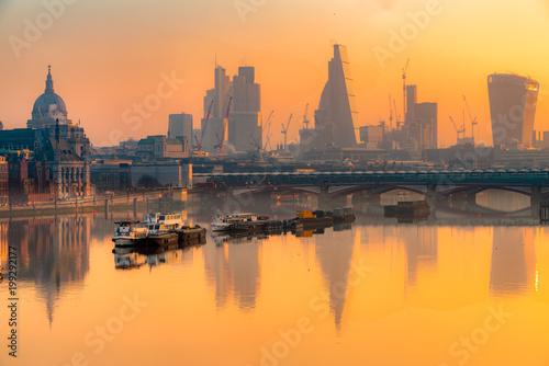 Fridge magnet City of London skyline, London, UK