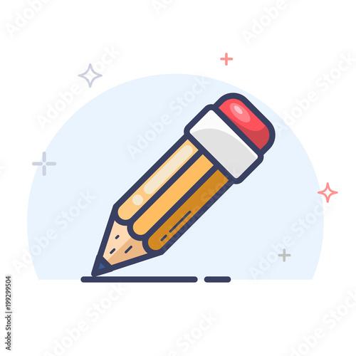 Ikona linii ołówka wektor