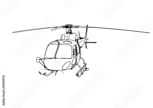 vector helicopter sketch