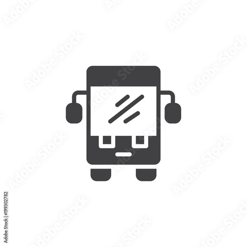 Fototapeta Bus vector icon. filled flat sign for mobile concept and web design. Public transport simple solid icon. Symbol, logo illustration. Pixel perfect vector graphics