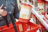 Packing fine chinese noodles and shopping cart - 199314114