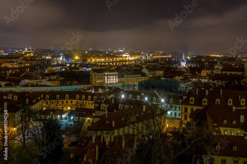 Poster Praag Blick auf das nächtliche Prag