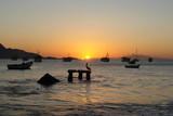 marine sunset in Juan Griego, Margarita Island, Venezuela
