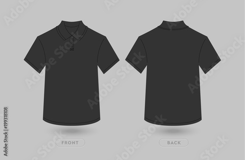 Black Polo T Shirt Mockup Template Polo Shirt Front And Back View